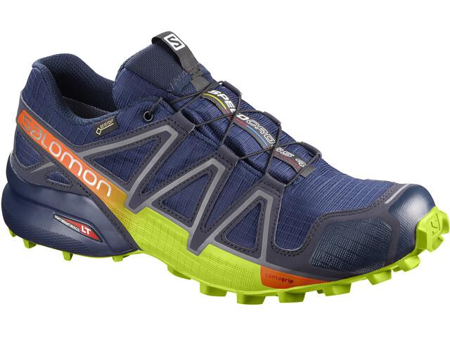 Salomon Speedcross 4 GTX Shoes Men Medieval Blue/Acid Lime/Graphite